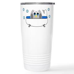 Owl in Tub Travel Mug