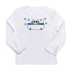 Owl in Tub Long Sleeve T-Shirt