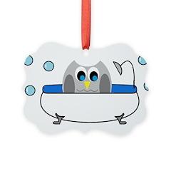 Owl in Tub Ornament