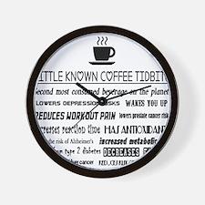 Little Known Coffee Tidbits Wall Clock