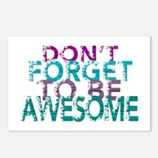 Dont forget to be awesome Postcards (Package of 8)
