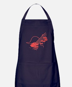 guitar-hands2-col-red-T Apron (dark)