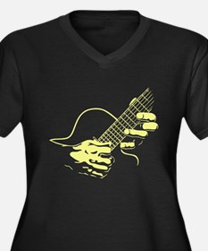 guitar-hands2-col-red-T Plus Size T-Shirt