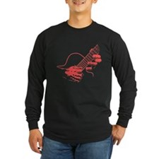 guitar-hands2-col-red-T Long Sleeve T-Shirt