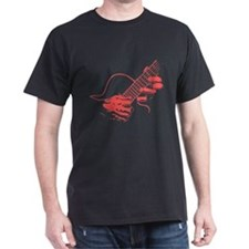 guitar-hands2-col-red-T T-Shirt