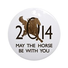 Horse With You Ornament (Round)