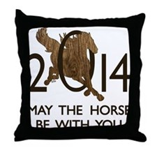 Horse With You Throw Pillow