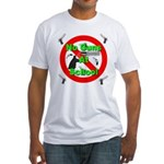 No Guns At School Fitted T-Shirt