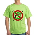 No Guns At School Green T-Shirt