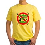 No Guns At School Yellow T-Shirt
