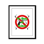 No Guns At School Framed Panel Print