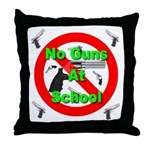 No Guns At School Throw Pillow