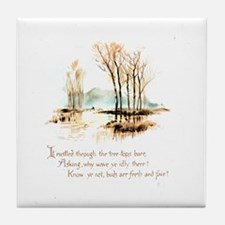 Winter Poem Tile Coaster