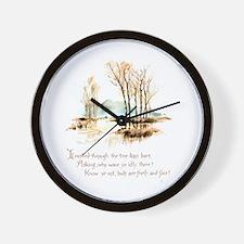 Winter Poem Wall Clock