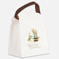 Winter Poem Canvas Lunch Bag