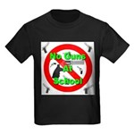No Guns At School Kids Dark T-Shirt