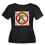 No Guns At School Women's Plus Size Scoop Neck Dar