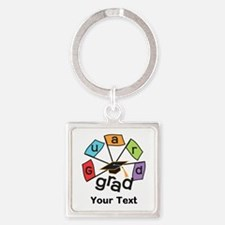 Customize Guard Grad Flags Square Keychain