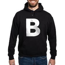 Letter B White Hoodie