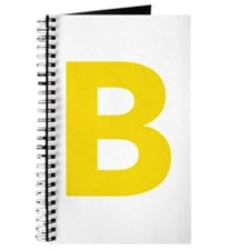 Letter B Yellow Journal