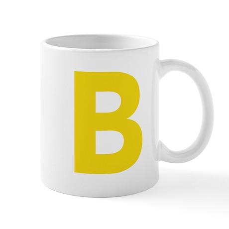 Letter B Yellow Mugs