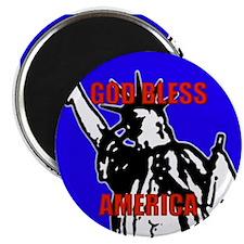 """God Bless America 2.25"""" Magnet (10 pack)"""
