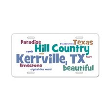 Kerrville, TX Aluminum License Plate