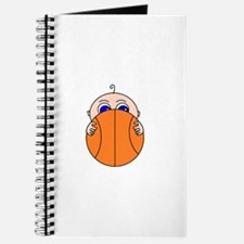 Baby Peeking Basketball Journal