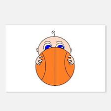 Baby Peeking Basketball Postcards (Package of 8)