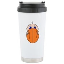 Baby Peeking Basketball Travel Mug