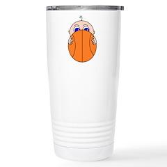 Baby Peeking Basketball Travel Mug