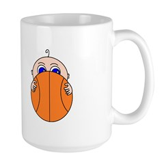 Baby Peeking Basketball Mugs