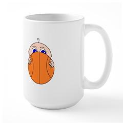 Baby Peeking Basketball Mugs