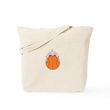 Baby Peeking Basketball Tote Bag