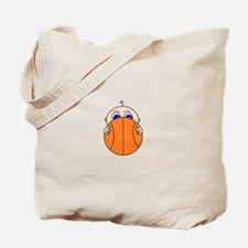 Baby Peeking Basketball Tote Bag
