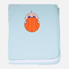 Baby Peeking Basketball baby blanket