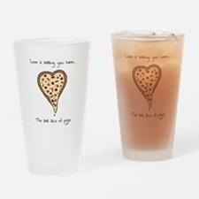 Love is... pizza Drinking Glass