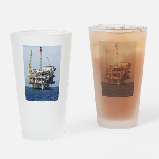 Oil Rig Drinking Glass