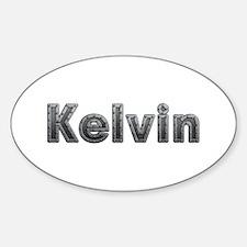 Kelvin Metal Oval Decal