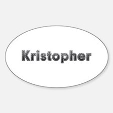 Kristopher Metal Oval Decal