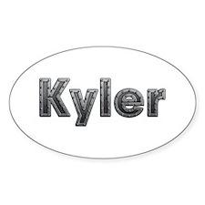 Kyler Metal Oval Decal