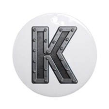 K Metal Round Ornament