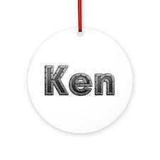 Ken Metal Round Ornament