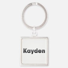 Kayden Metal Square Keychain