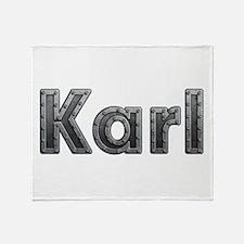 Karl Metal Throw Blanket