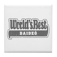 WB Grandpa [Irish Gaelic] Tile Coaster