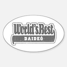 WB Grandpa [Irish Gaelic] Oval Decal