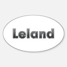 Leland Metal Oval Decal