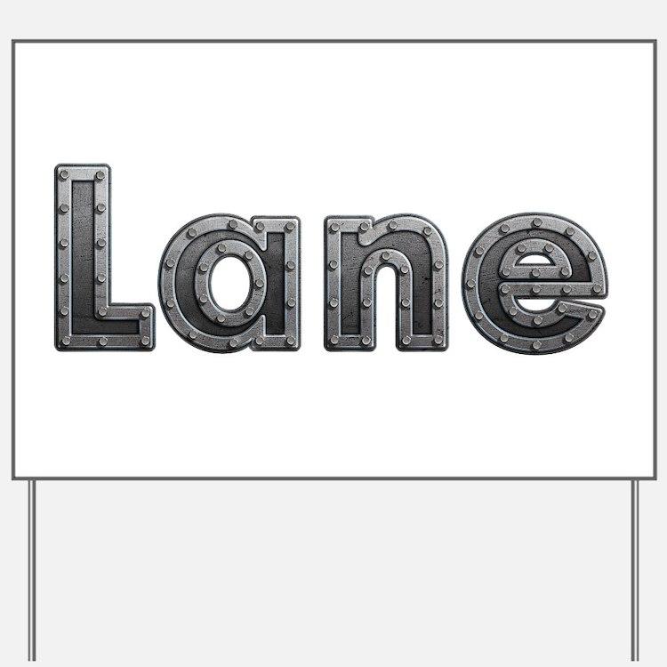Lane Metal Yard Sign