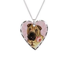 Shar-Pei Rose Necklace
